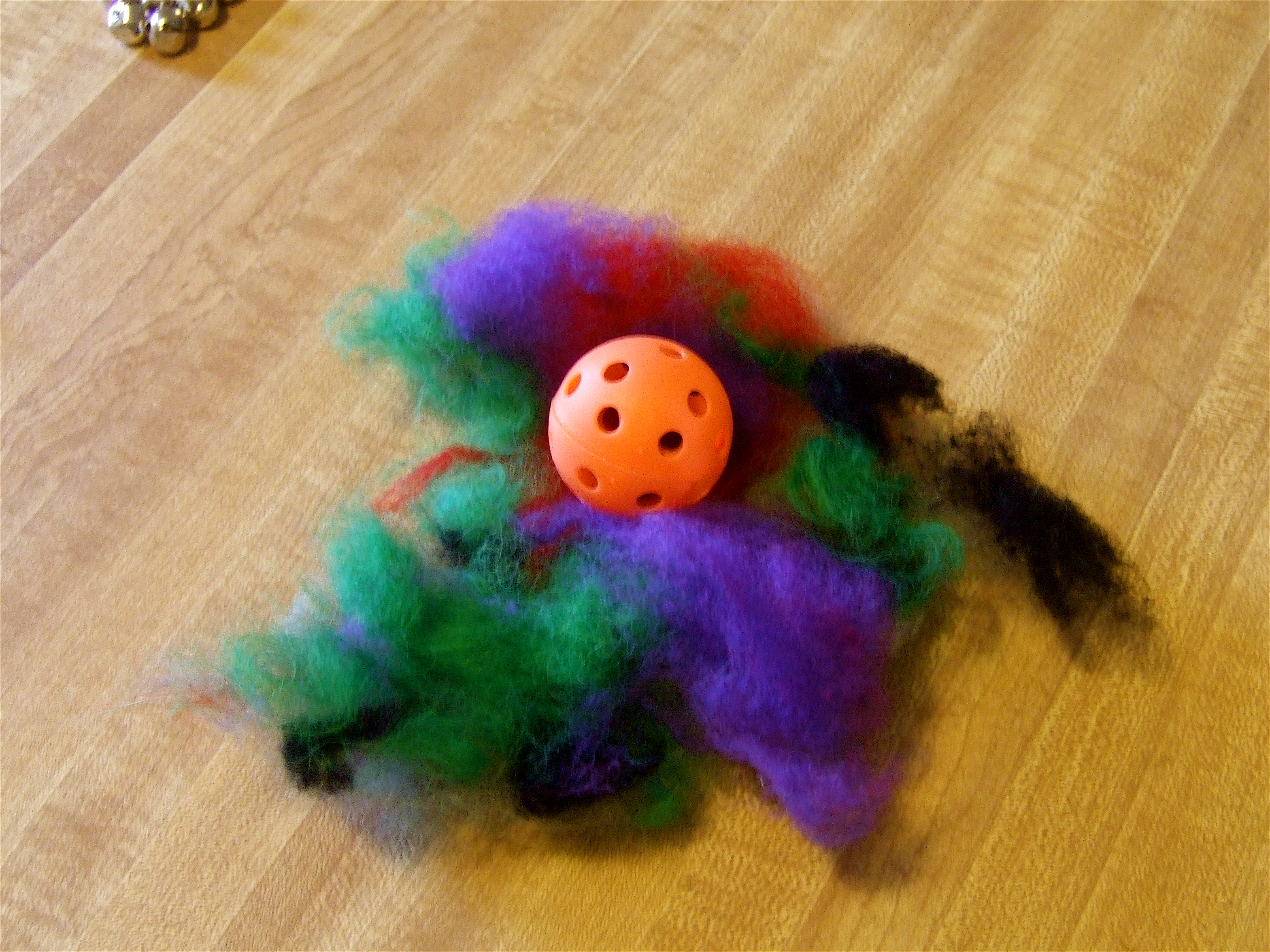 Making A Wool Cat Toy Ball