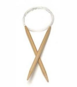 Circular bamboo knitting needles