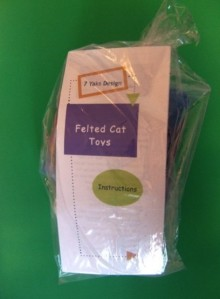 Felted Cat Toy Kit. Makes two cat toys.