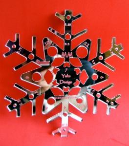 Metric Snowflake Gauge