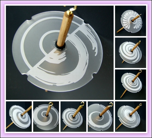 Swirl Drop Spindle Collage